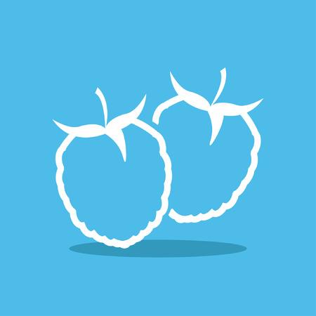 photorealism: raspberry icon