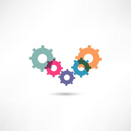 steering wheel: gear icon