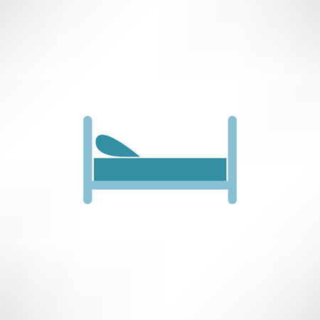 breakfast in bed: bed icon