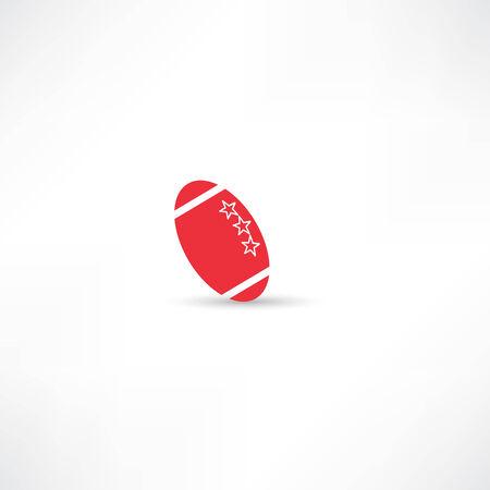 pelota rugby: Icono del balón de rugby Vectores