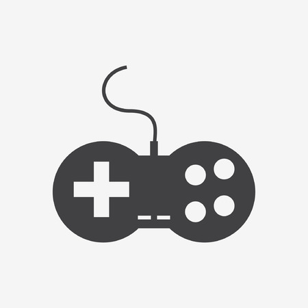 old items: Gaming Joystick Icon Isolated on White Background