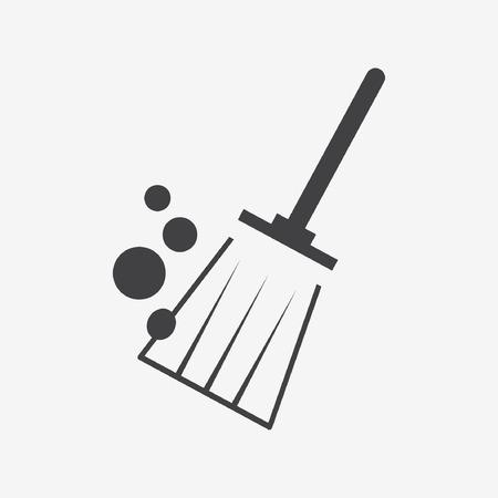 primitive tools: broom brush icon