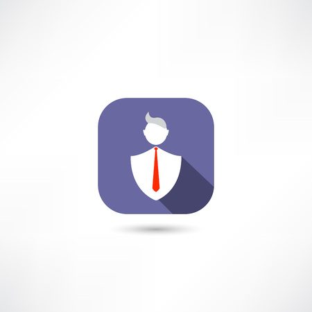 man in the tie icon