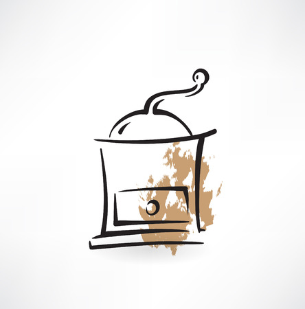 coffee mill grunge icon