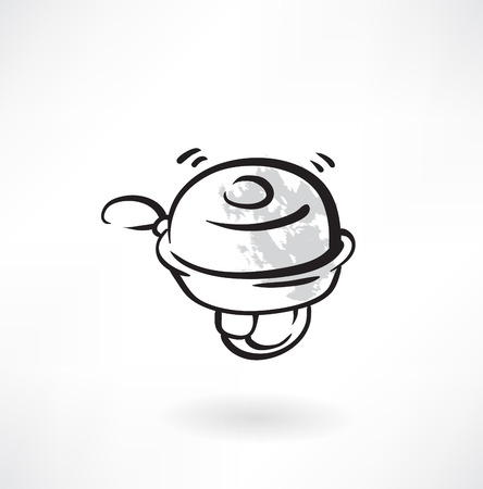 bicycle bell grunge icon