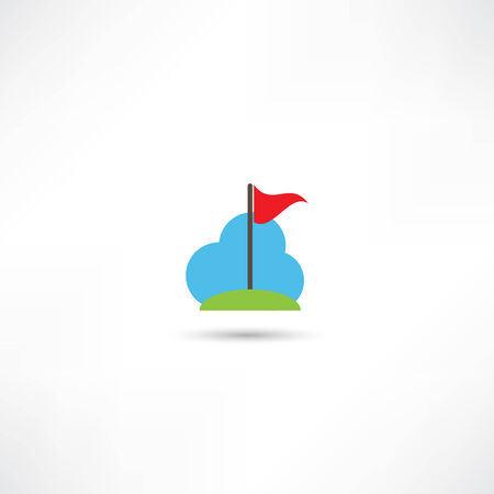 flagging: flag icon Illustration