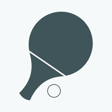 Table Tennis Bat Illustration