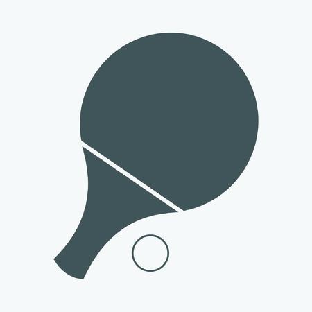 Table Tennis Bat Vector