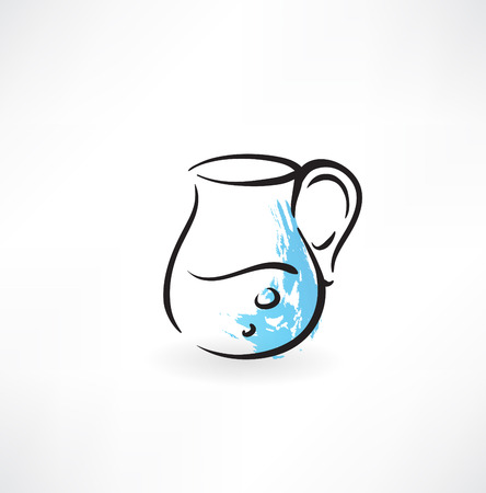 pitcher of water grunge icon Vector