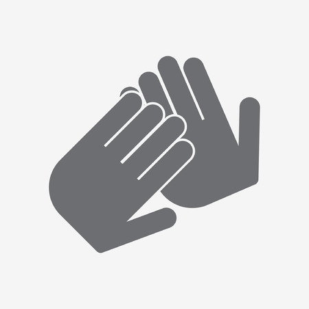 people clapping: applause icon Illustration