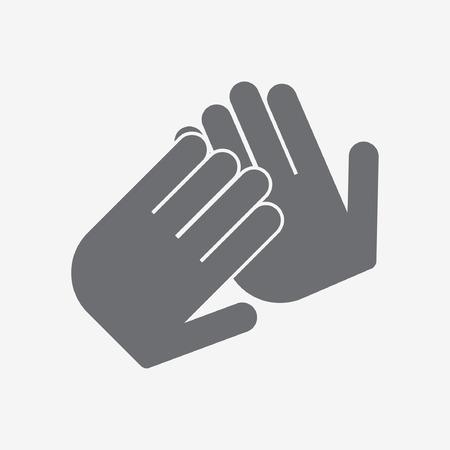 aplaudiendo: icono de aplausos Vectores