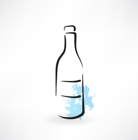 glass bottle grunge icon Vector