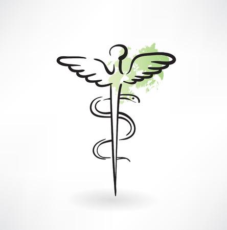emblem for drugstore or medicine: symbol of medicine grunge icon