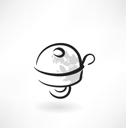 clang: bicycle bell grunge icon
