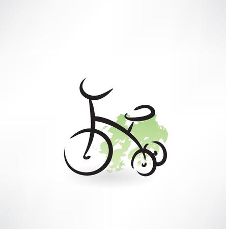road bike: bicycle grunge icon