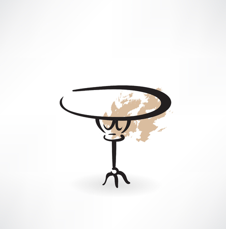 small table: round table grunge icon