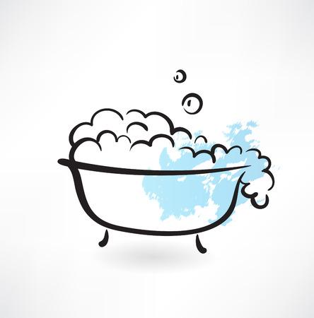 bath grunge icon Vector