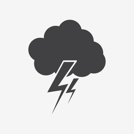 cloud lightning icon Stock Vector - 32210135