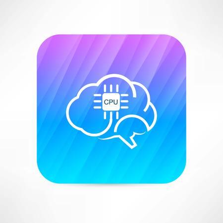 Hersenen pictogram Stockfoto - 32210149
