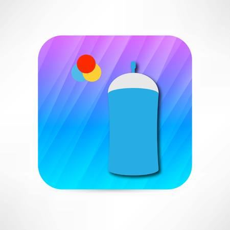 aluminum: spray icon Illustration