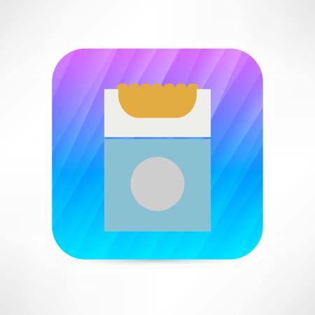 baccy: pack of cigarettes icon Illustration