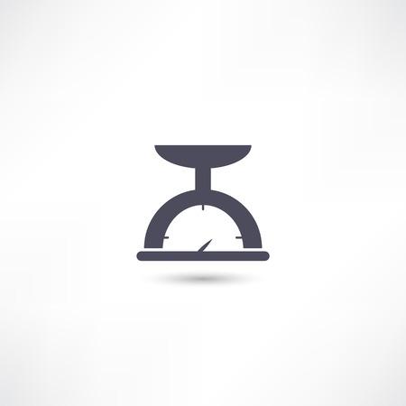 scale icon: kitchen scale icon