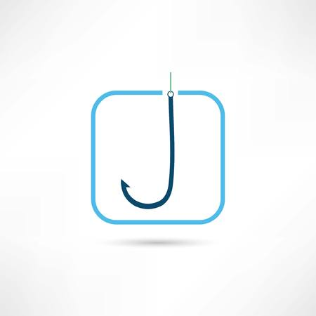 fishhook: fishhook icon Illustration