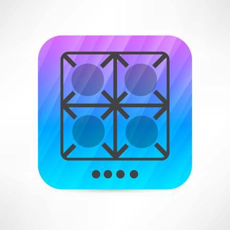 burners icon Vector