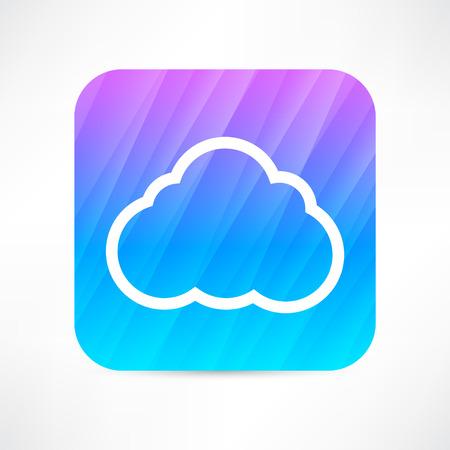 wheather forecast: cloud icon Illustration
