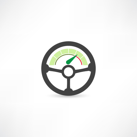 chauffeur: Wheel of a car icon