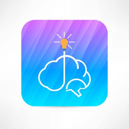 electric brain icon 版權商用圖片 - 32203713