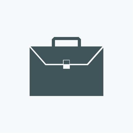Briefcase icon, vector illustration. Flat design style Vector