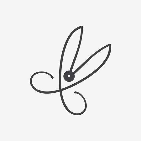 nożyczki ikona Ilustracje wektorowe