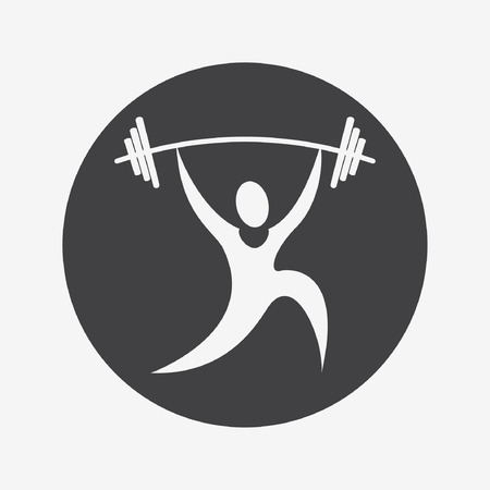 heaviness: weightlifter icon Illustration