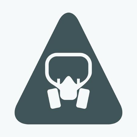 gas mask danger sign: mask icon