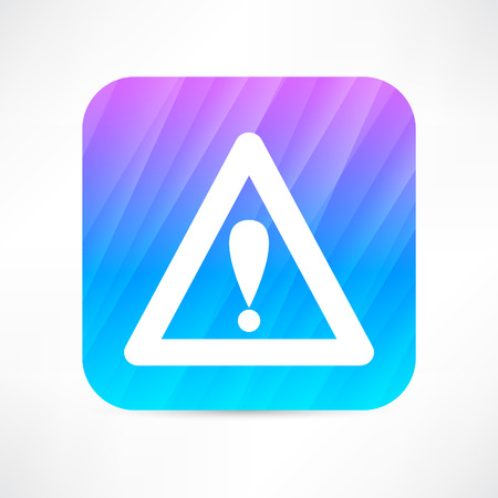 attention icon: warning triangle icon