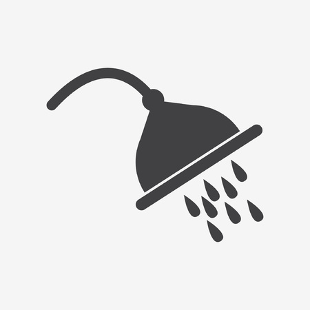 domestic bathroom: shower spray icon