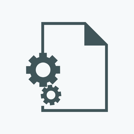 alloy wheel: icon interaction. sheet and Gear Illustration