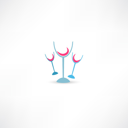 Wine glasses icon