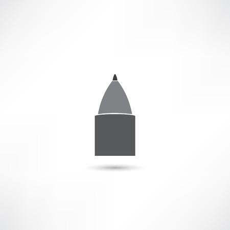 black pictogram: Ballpoint pen icon