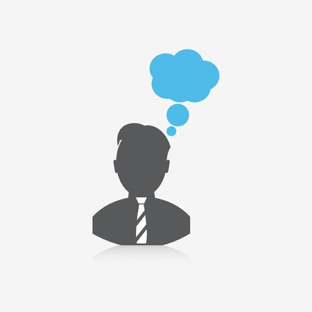 electronic organiser: thinking man icon