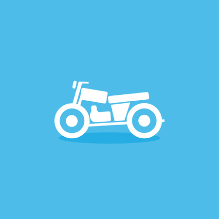 cruz roja: icono de la motocicleta Vectores
