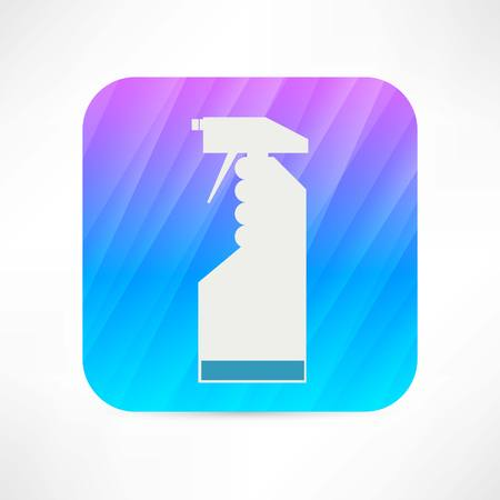 cleaning spray icon Vector