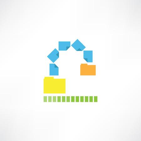 transferring: Transferring files icon Illustration