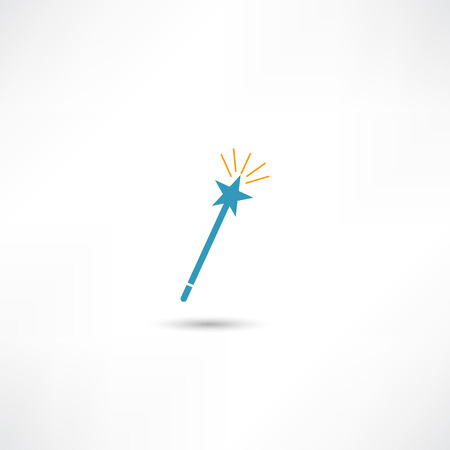fairy wand: Magic icon Illustration