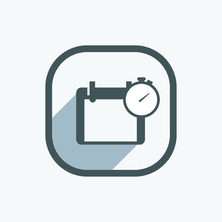 event planning: time. calendar and stopwatch icon