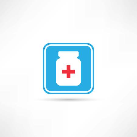 placebo: medicine bottle icon Illustration