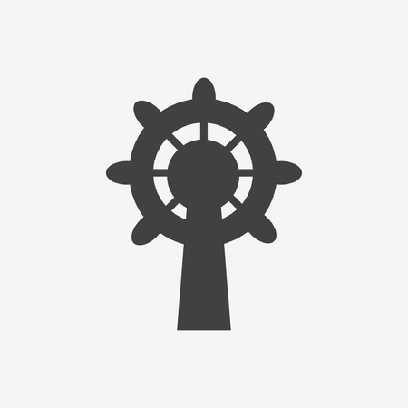 merchant: Ship steering wheel icon