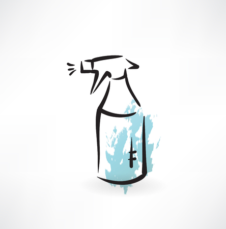 disinfectant: spray cleaning grunge icon Illustration