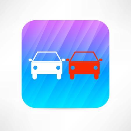 alloy wheel: car icon Illustration